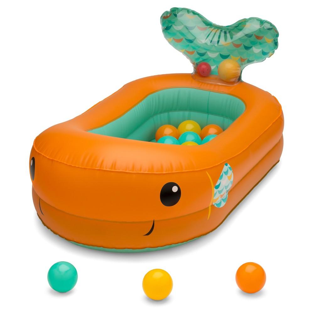 Image of Infantino Go Gaga! Bubble Ball Inflatable Bath Tub, Orange