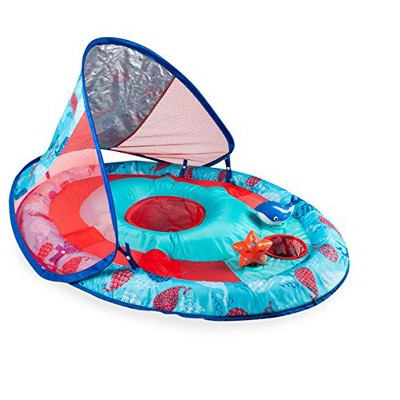 Swimways Baby Spring Float Activity Splash Station with Removable Sun Canopy