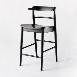 Kaysville Curved Back Wood Counter Height Stool - Threshold™ designed with Studio McGee