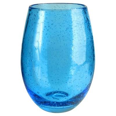 Artland Iris Glass Stemless Tumblers 20oz Blue - Set of 6