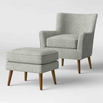 Englund Chair and Ottoman Gray - Project 62™