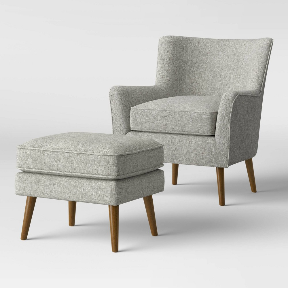 Englund Chair And Ottoman Gray Project 62 8482