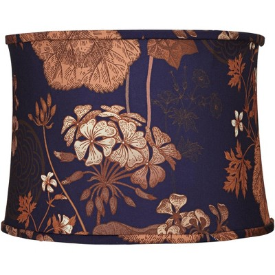 Springcrest Purple and Rust Floral Drum Lamp Shade 14x15x11 (Spider)
