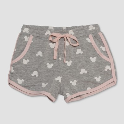 Junk Food Girls' Mickey Mouse Print Lounge Shorts - Gray M