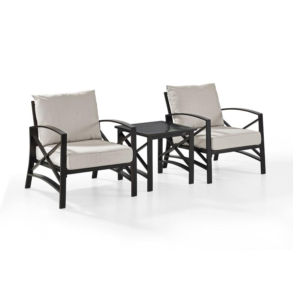 3pc Kaplan Outdoor Seating Set Oatmeal - Crosley
