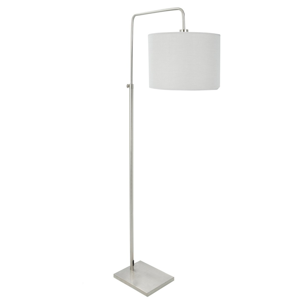 Image of Apollo Industrial Floor Lamp Brushed Nickel Gray (Lamp Only) - Lumisource