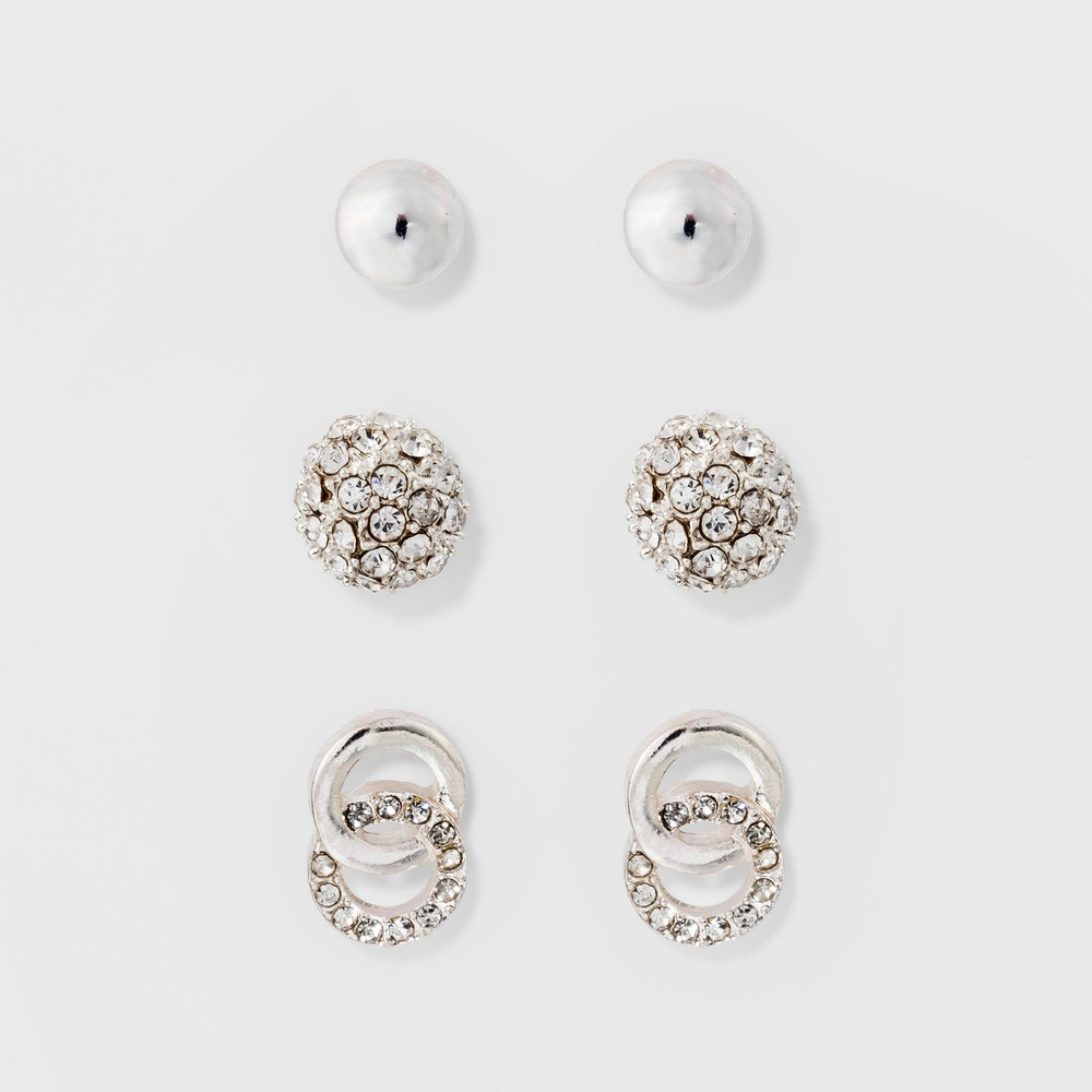 Stud Earring Set 3ct - A New Day Silver