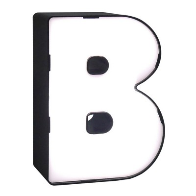 LED Neon Letter - B Novelty Table Lamp Brass - Room Essentials™