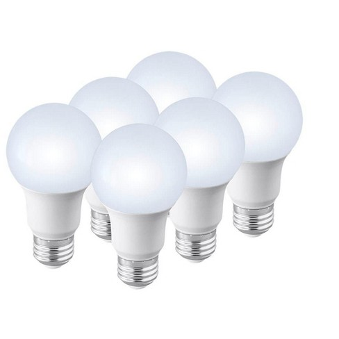 Monoprice Premium A19 Led Bulb 4000k 6 Pack 60 Watt Equivalent Pure White High Cri 90 800lm Dimmable