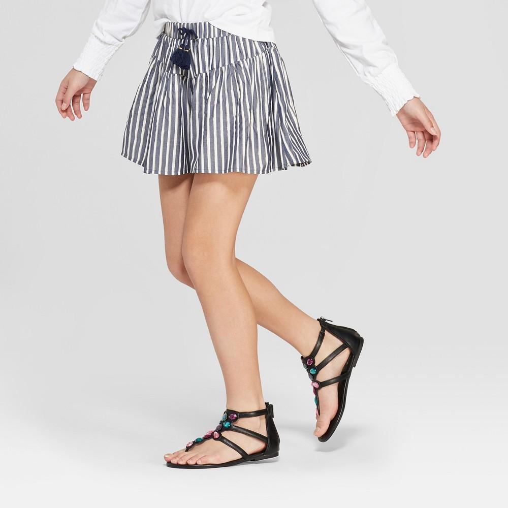 Girls' Striped Shorts - art class Navy S, Blue