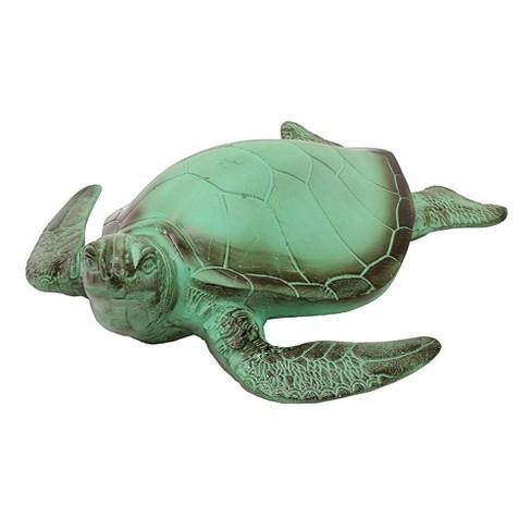 """5.5"""" Aluminum Sea Turtle Statue Blue Gray Verdi Painted Finish - Achla Designs - image 1 of 1"""