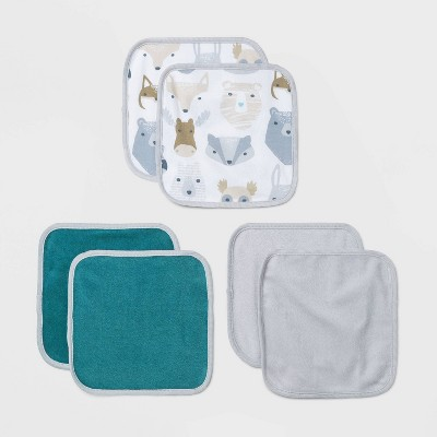 Baby Boys' 6pk Cub Washcloth Set - Cloud Island™ White