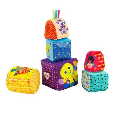 Lamaze Mix & Match Activity Blocks Baby Learning Toy
