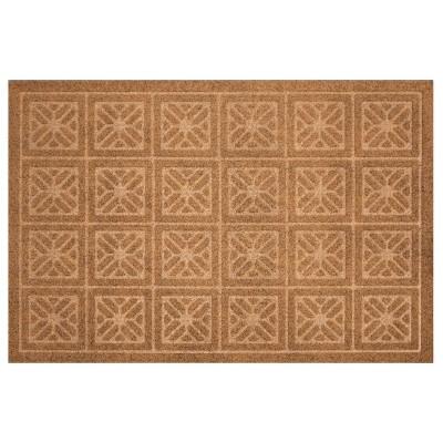 2'X3' Geometric Doormats Tan - Multy Home LP