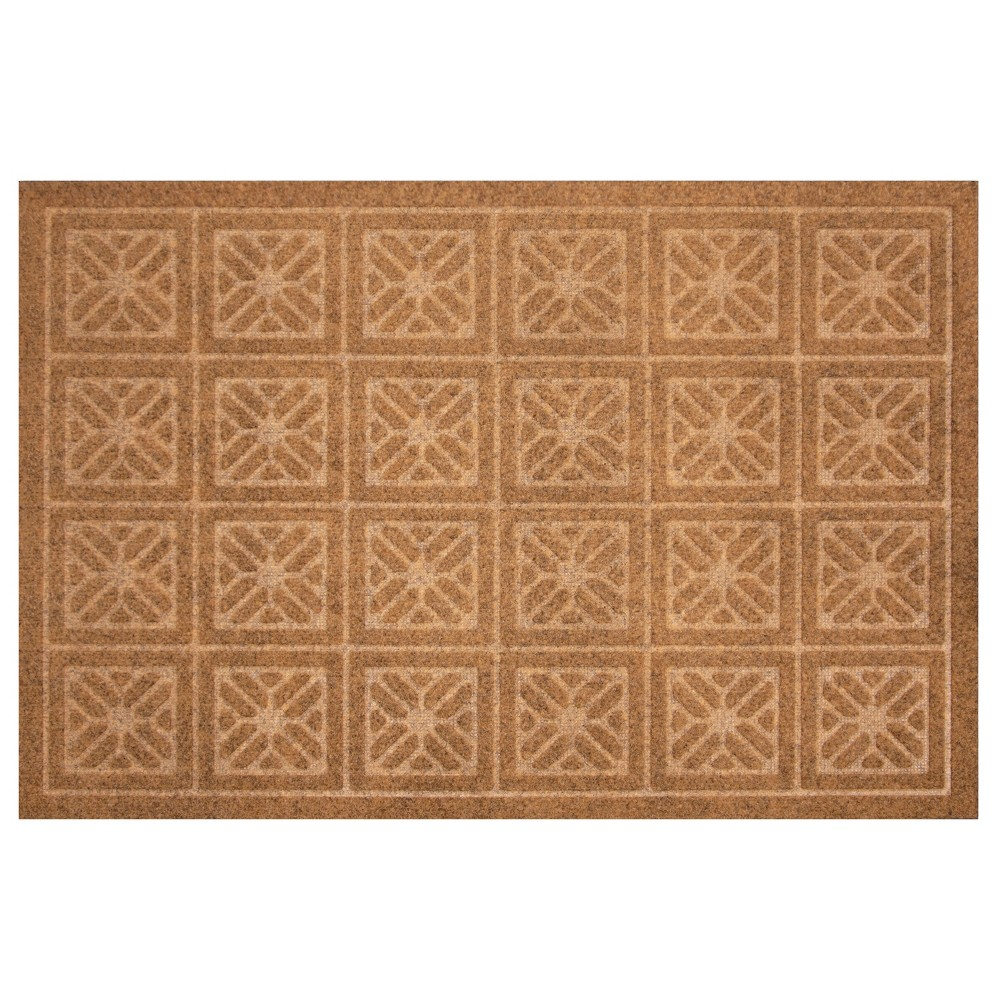 Image of 2'X3' Geometric Doormats Tan - Multy Home LP, Brown