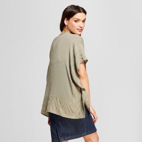 b945f3415c9 Women s Jacquard Ruana Kimono Jackets - Universal Thread™   Target