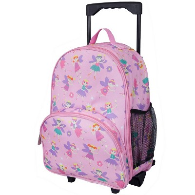Wildkin Olive Kids' Fairy Princess Rolling Carry On Suitcase - Pink