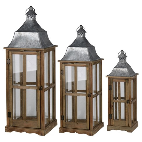 Window Scape Lantern Set Brown 3pk A B Home Target