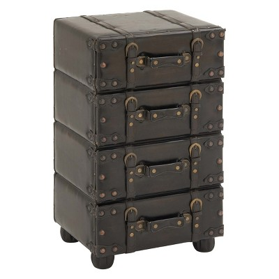 Wood Stacked Side Chest Dark Java - Olivia & May