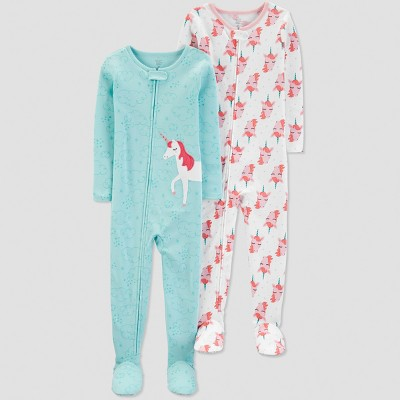 Baby Girls' Unicorn Pajama Set - Just One You® made by carter's Blue 12M