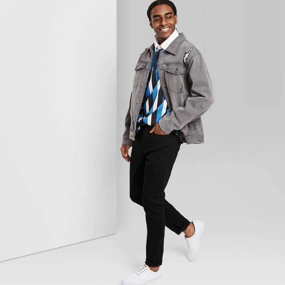 Men 39 S Regular Fit Denim Jacket Original Use 8482 Gray Xl