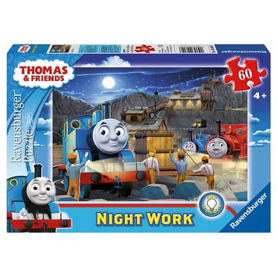 Ravensburger Thomas And Friends Night Work Glow-In-The-Dark Puzzle 60pc