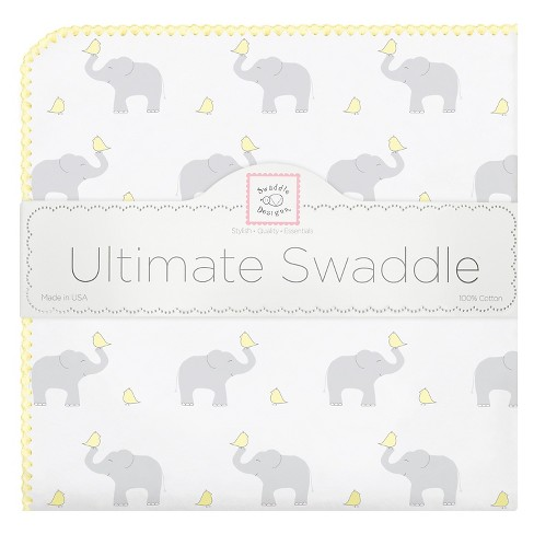 SwaddleDesigns Ultimate Receiving Blanket - Elephant - Pastel Yellow - image 1 of 1