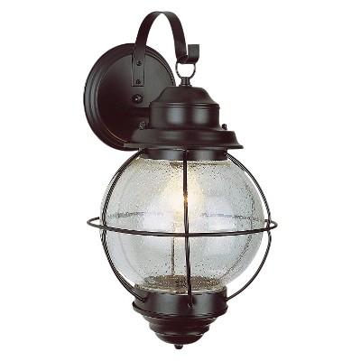 "Vintage Onion Outdoor Lantern Wall Mount 15"" Black"