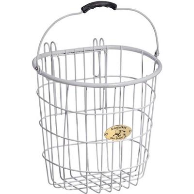 Nantucket Bike Basket Surfside Wire Pannier Basket