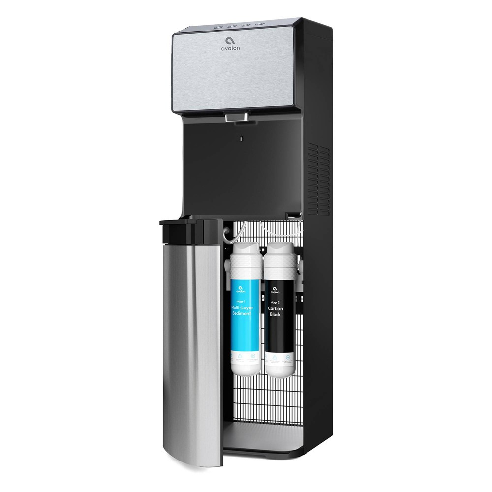 Image of Avalon Electric Bottleless Water Cooler and Dispenser - Black, Silver