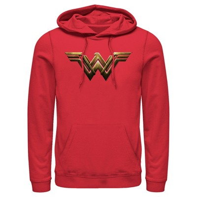Men's Zack Snyder Justice League Wonder Woman Logo Pull Over Hoodie