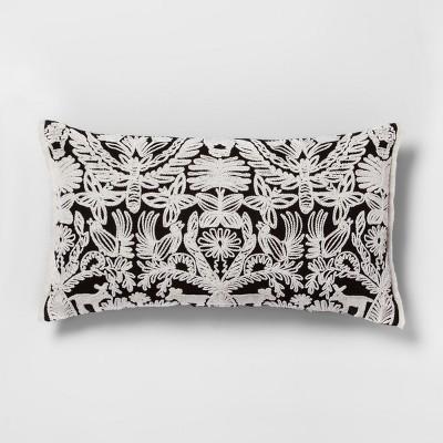 Black and White Global Animal Lumbar Throw Pillow - Opalhouse™