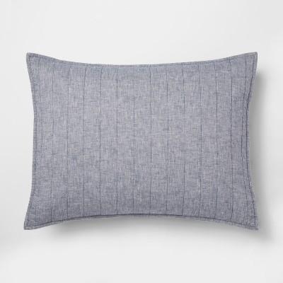 Blue Chambray Linen Blend Sham (Standard)- Threshold™