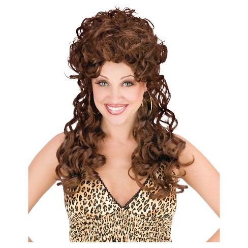 Women's Long Brown Curly Wig - image 1 of 1