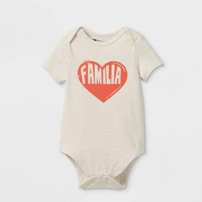 Latino Heritage Month Baby Familia Bodysuit - Oatmeal 6-9M