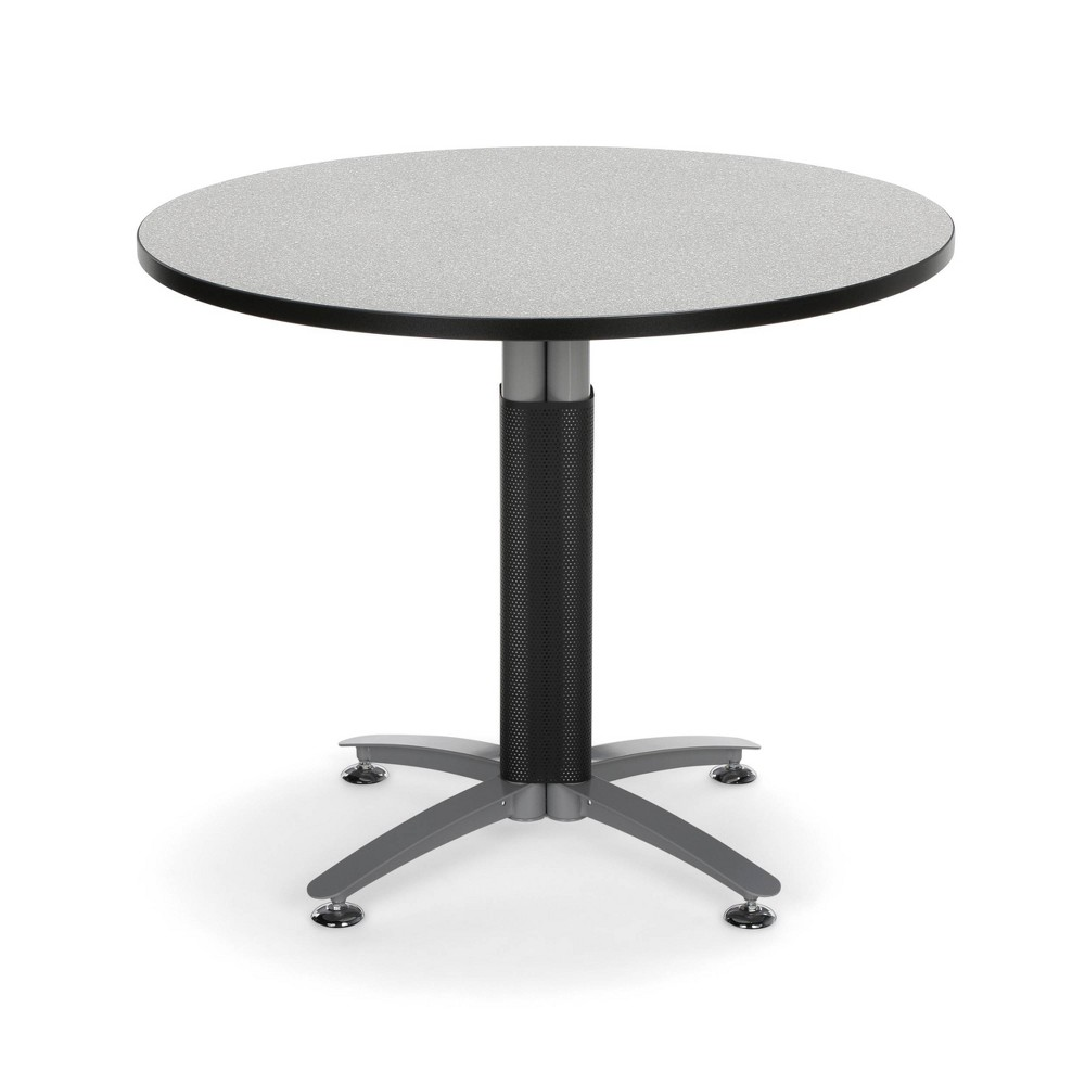 36 Core Collection Round Table with Metal Mesh Base Gray Nebula - Ofm