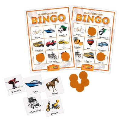 Kaplan Early Learning Company Transportation Bingo Cards Matching Learning Game For Kids