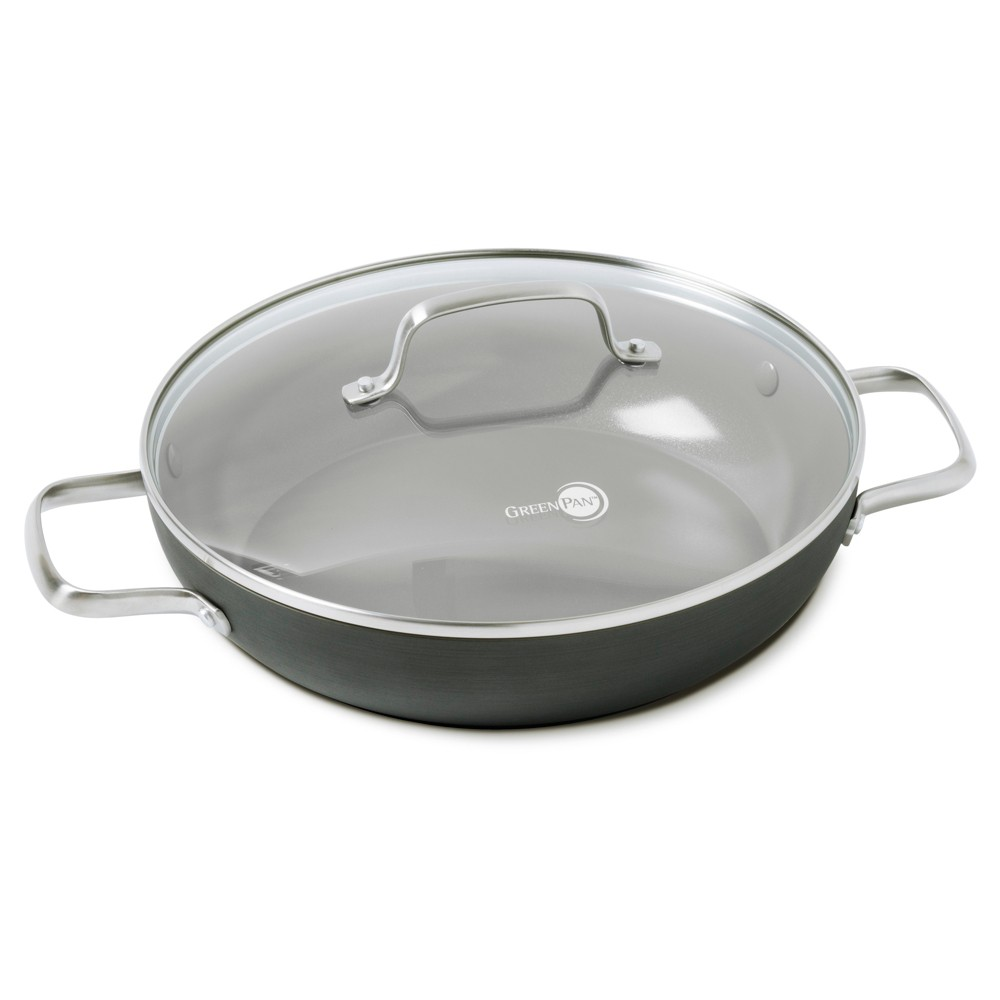 "Image of ""GreenPan Chatham 11"""" Ceramic Non-Stick Covered Everyday Pan, Gray"""