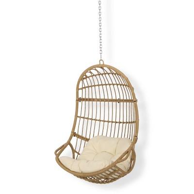 Richards Outdoor Indoor Wicker Hanging, Hanging Egg Chair Outdoor No Stand