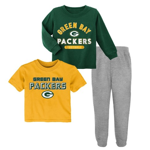 new style 4b9db b996d NFL Green Bay Packers Toddler Boys' Gametime Fun Shirt & Pants Set 3pk - 2T