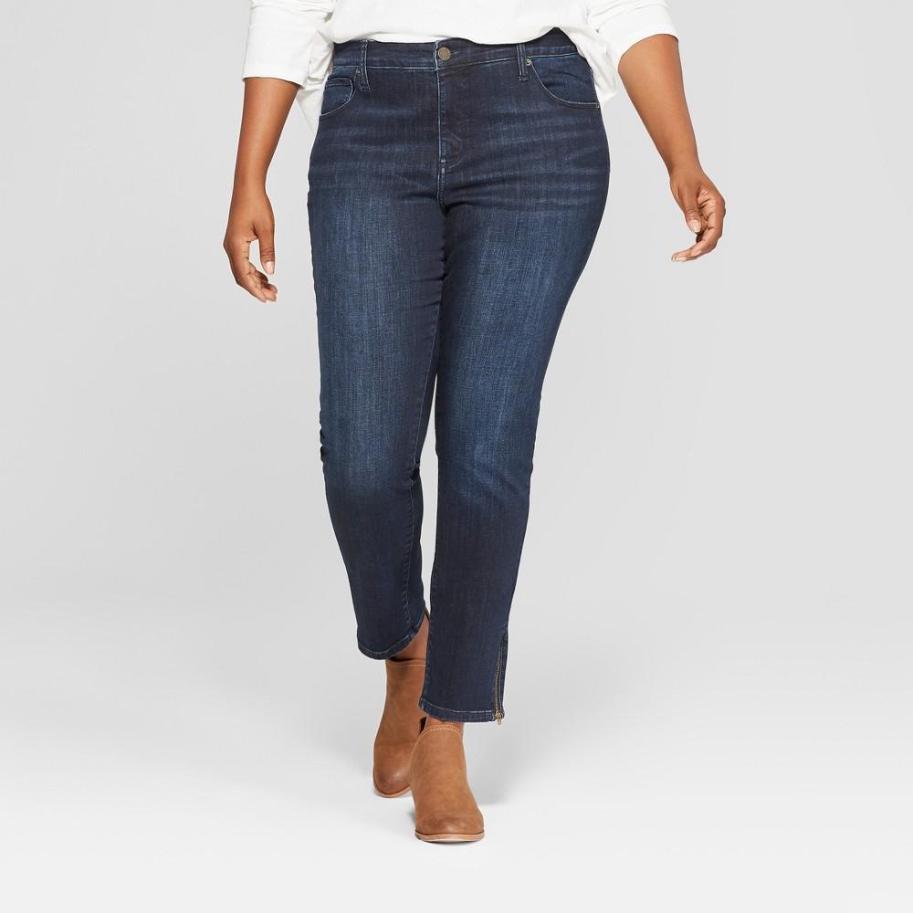 Women's Plus Size Skinny Jeans - Universal Thread Dark 16W, Blue