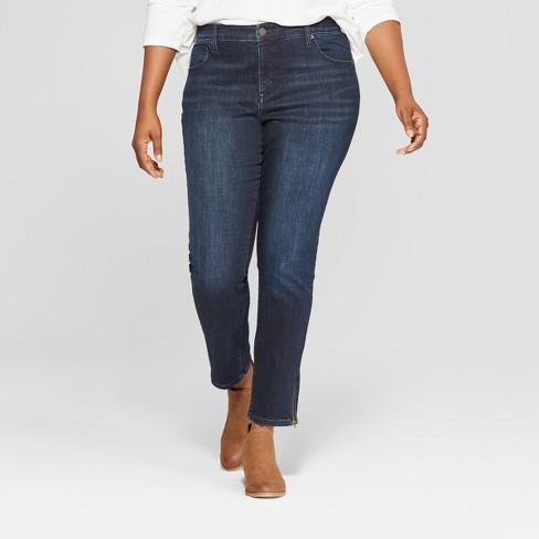 fc7051f6c22 Women s Plus Size Skinny Jeans - Universal Thread™ Dark   Target