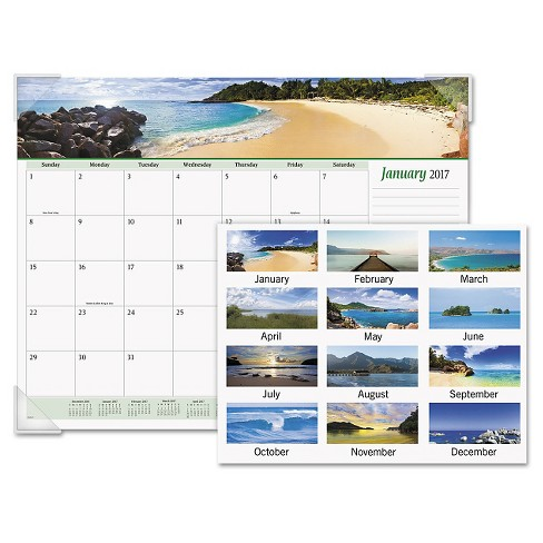 AT-A-GLANCE® Seascape Panoramic Desk Pad 22 x 17 2018 - image 1 of 2