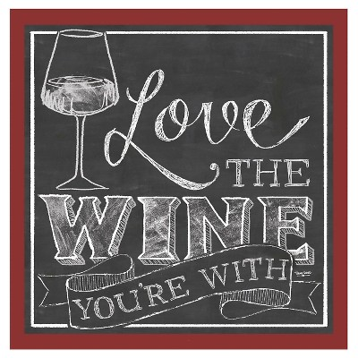 Thirstystone Love the Wine You're With 4 Piece Occasions Coaster Set