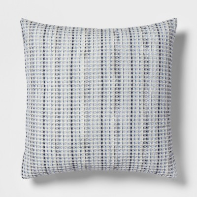 Waffle Oversize Square Throw Pillow Blue - Threshold™