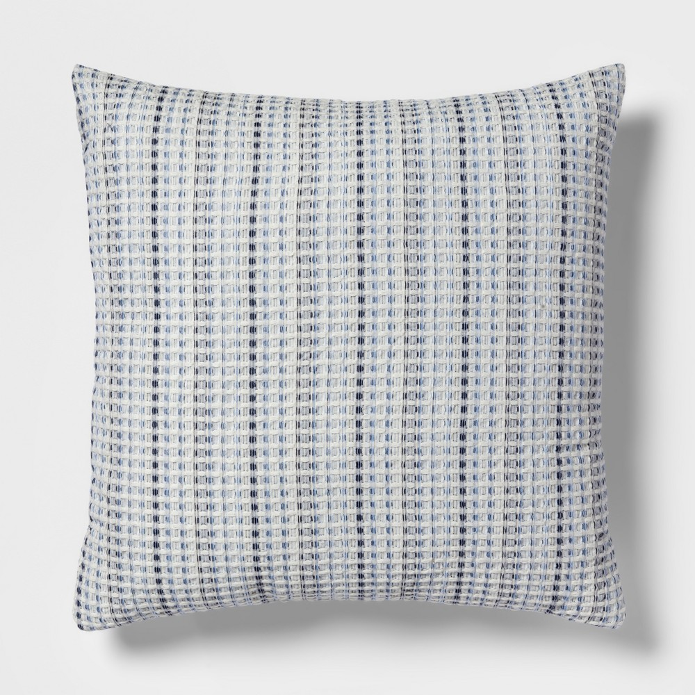 Waffle Oversize Square Throw Pillow Blue - Threshold