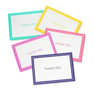 """50ct Solid """"Thank You"""" Note Cards"""