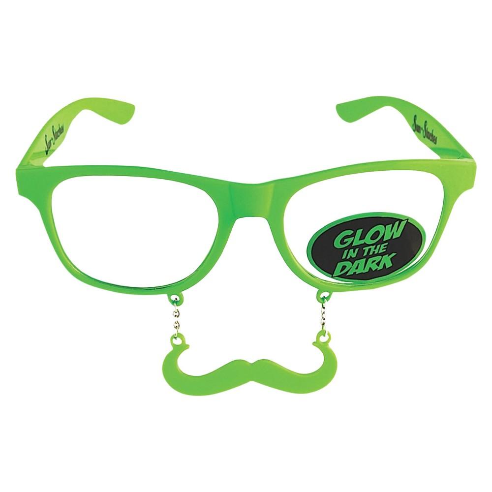 Sunstache Stache Clear Lenses Green