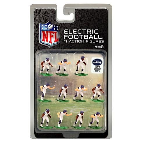 online retailer db9c7 72c82 NFL Seattle Seahawks Tudor Games Away Uniform Electric Football Action  Figure Set