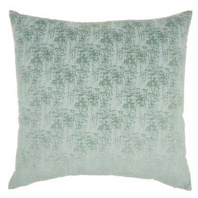 "22""x22"" Life Styles Erased Velvet Throw Pillow Celadon - Mina Victory"